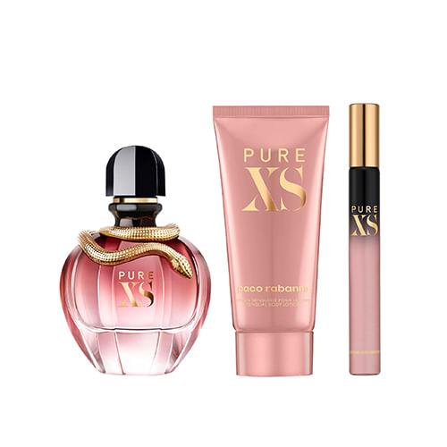set Perfume Mujer Pure xs for her edp Loción de Cuerpo